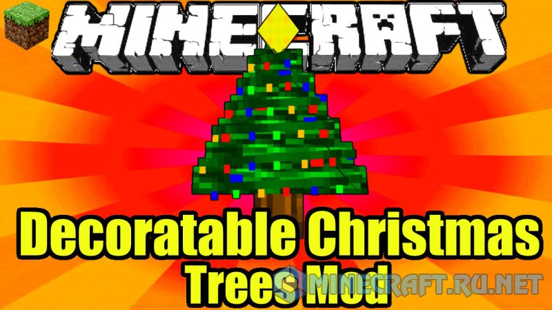 Minecraft Decoratable Christmas Trees