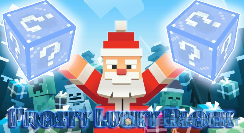 Майнкрафт Lucky Block Frosty