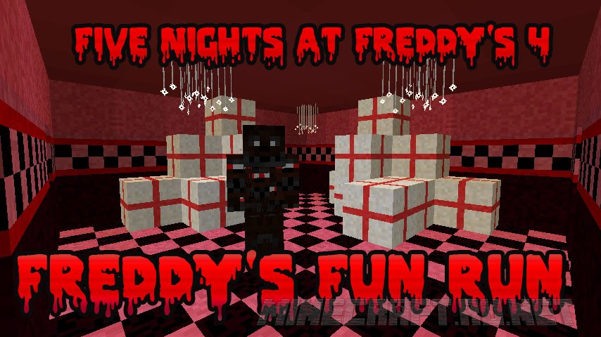 Майнкрафт Five Nightmares at Freddy's 4 - Freddy's Fun Run (FNAF4)