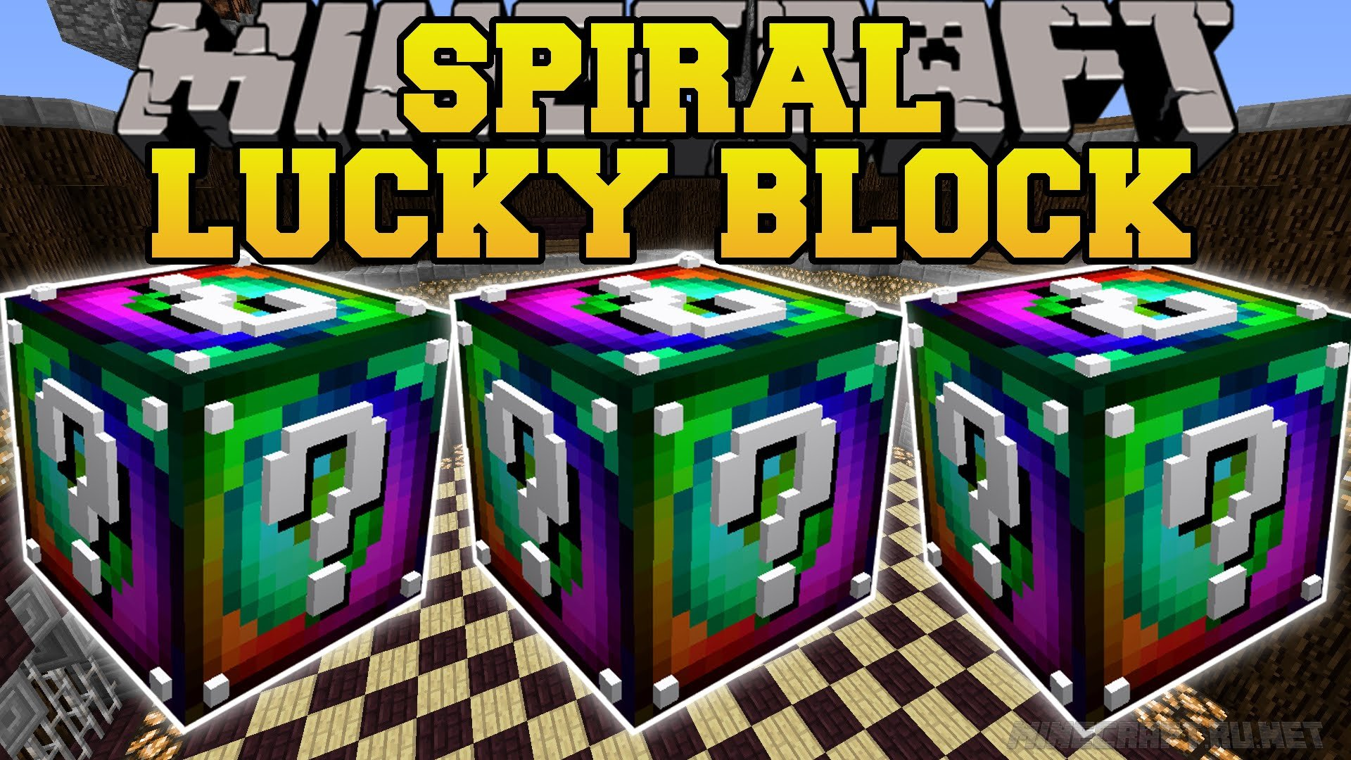 Minecraft Lucky Block Spiral