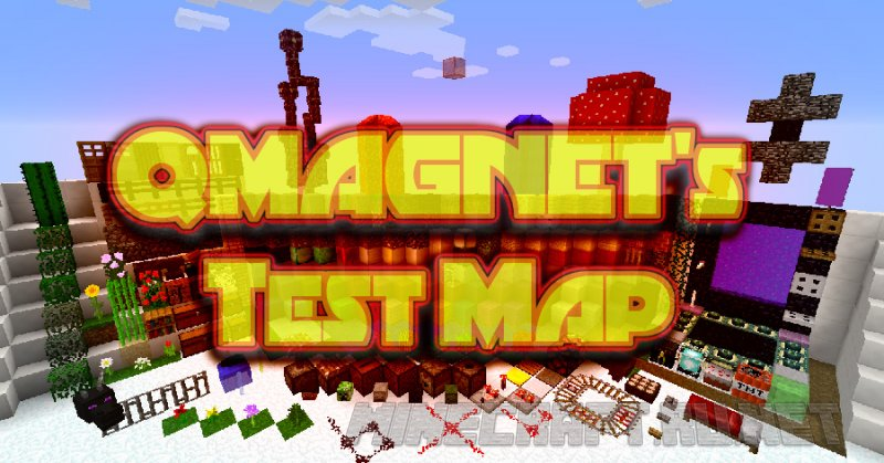 Minecraft QMAGNET's Test Map