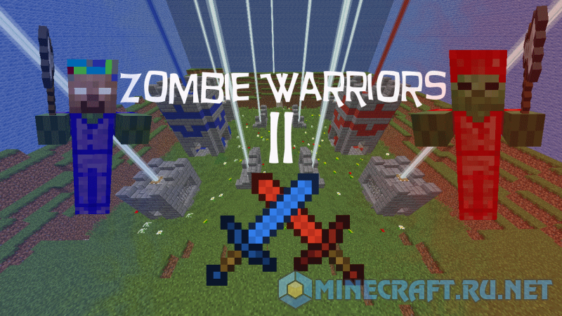 Майнкрафт Zombie Warriors II