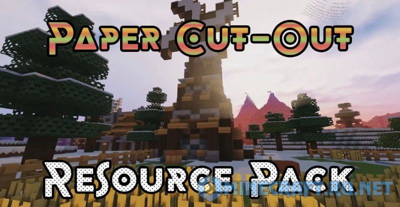 Minecraft Paper Cut-Out